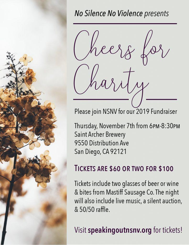 image of flyer for dv fundraiser